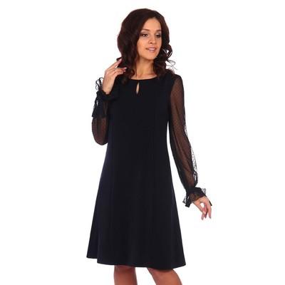 Платье женское «Доната», цвет чёрный, размер 44