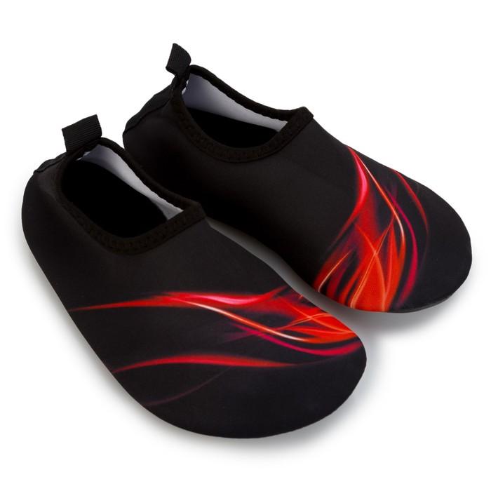 Аквашузы детские MINAKU «Огонь» цвет красный, размер 24-25