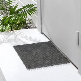 Покрытие ковровое щетинистое «Травка-эконом», 36×48 см, цвет серый Ош