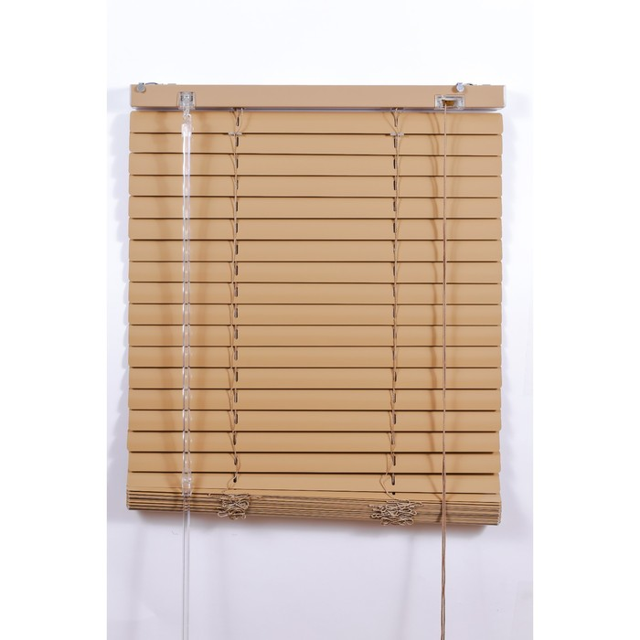 Алюминиевые жалюзи, размер 180х160 см, цвет бежевый