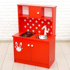 Игровая мебель «Кухонный гарнитур: Зайка», цвет красный Ош