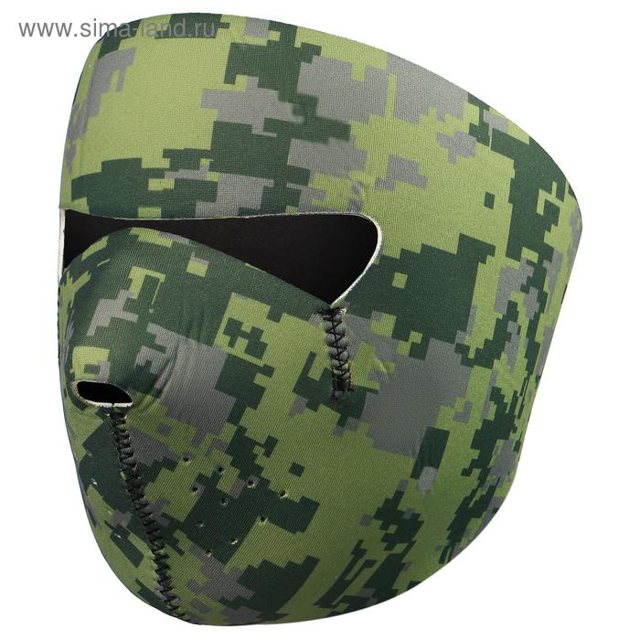 Маска защитная для лица, неопрен, цвет хаки