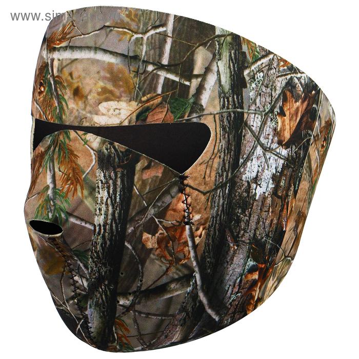 Маска защитная для лица, неопрен, цвет лес