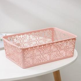 Корзина для хранения Floral, 30×19,5×9,5 см, цвет МИКС