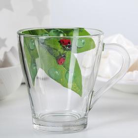 Кружка для чая «Живая природа. Зелёный лист», 250 мл