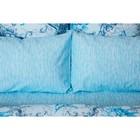 Постельное бельё 1, 5 сп Ночь Нежна «Лунный свет», цвет синий, 145х215, 150х214см, 70х70см — 2 шт - Фото 2