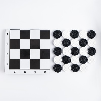 "Шашки ""На каждый день"" (шашки пластик, поле картон 22.5х22.5 см) - Фото 1"