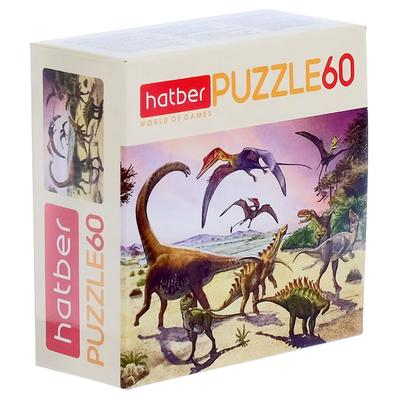 Пазл «Эра динозавров», 60 элементов - Фото 1
