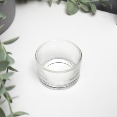 """Подсвечник стекло на 1 свечу """"Круглый"""" прозрачный 3,2х5х5 см - Фото 1"""