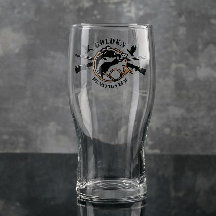 Бокал для пива «Тюлип. Охота», 570 мл, рисунок МИКС