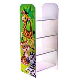 Стеллаж «Жираф», цвет белый, зелёный Ош