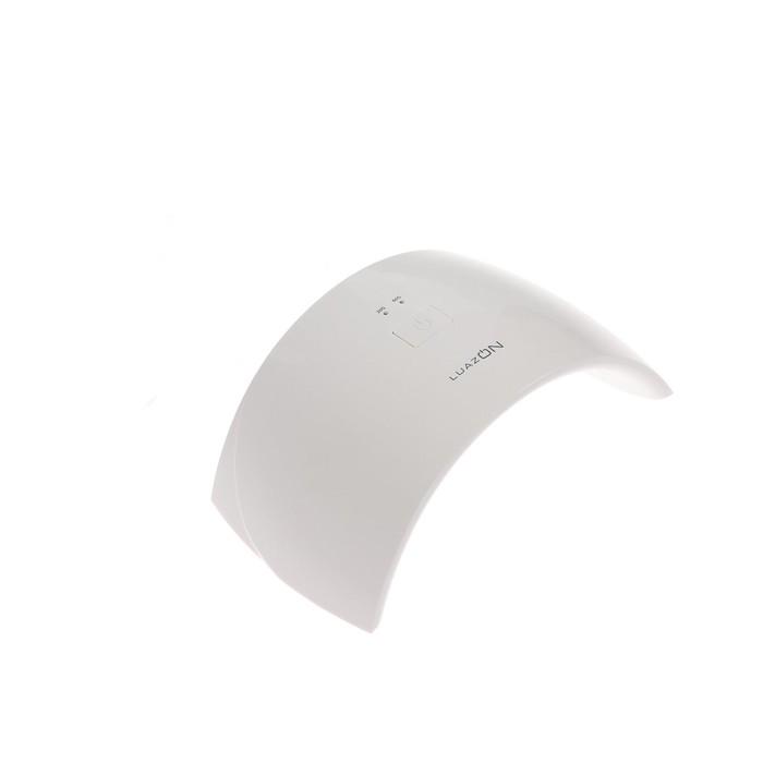 Лампа для гель-лака LuazON LUF-20, LED, 24 Вт, 15 диодов, таймер 60/90 сек, USB, белая