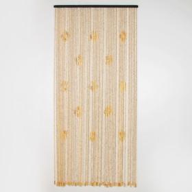 Занавеска декоративная «Шарики», 90×175 см, 31 нить, дерево Ош