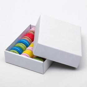 Коробка сборная без печати крышка-дно белая без окна 18 х 15 х 5 см