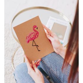 Вышивка на блокноте «Фламинго», 20 страниц. Набор для творчества Ош