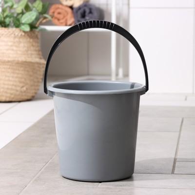 Ведро «Эконом», 5 л, цвет чёрный - Фото 1