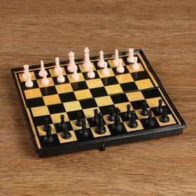 Настольная игра 3 в 1 'Атели': шашки, шахматы, нарды доска пластик 19х19 см Ош