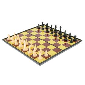 Настольная игра набор 2 в 1 'Баталия': шашки, шахматы,  доска пластик 20х20см Ош