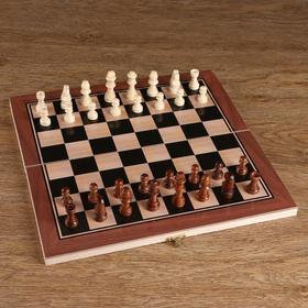 Шахматные фигуры, дерево, высота короля 5.5 см, в пакете  микс Ош
