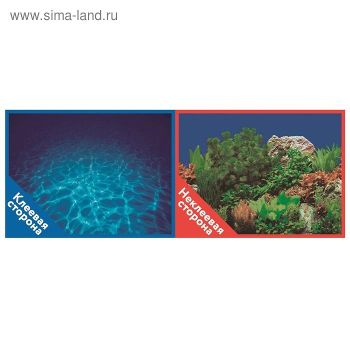 Фон двусторонний PRIME с клеевой стороной «Синее море», 30 x 60 см