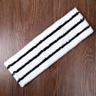 """Насадка для плоской швабры 40×10 см """"Hard"""", микрофибра, цвет бело-черный - Фото 1"""