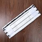 """Насадка для плоской швабры 40×10 см """"Hard"""", микрофибра, цвет бело-черный - Фото 2"""