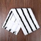 """Насадка для плоской швабры 40×10 см """"Hard"""", микрофибра, цвет бело-черный - Фото 3"""