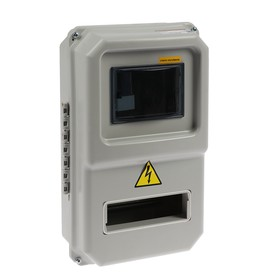 Щит учета TDM ЩУРН-П-1ф-8, 8 модулей, IP54, для однофазного счетчика, пластик Ош