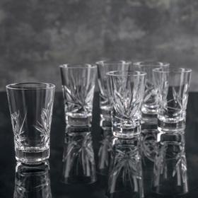 Набор стаканов для вина НЕМАН «Цветок», 35 мл, 6 шт