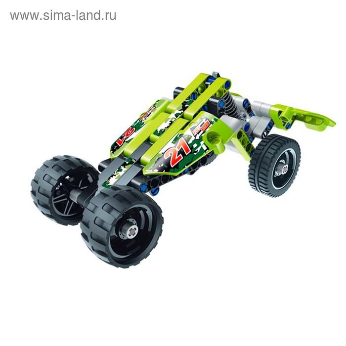 Базовый 3D-конструктор SDL KID-CONSTRUCT «Кроссовер», цвет зелёный, 101 деталь