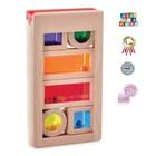 Деревянная игрушка «Радужные блоки», со звуковым эффектом, в контейнере - Фото 1