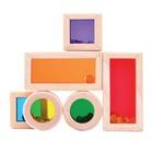 Деревянная игрушка «Радужные блоки», со звуковым эффектом, в контейнере - Фото 3