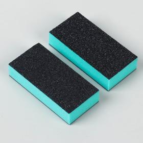 Бафы для ногтей, двусторонние, 2 шт, 7,7 см, цвет фиолетовый/чёрный