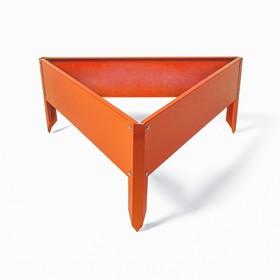 Клумба оцинкованная, 50 × 15 см, оранжевая «Терция»,Greengo Ош