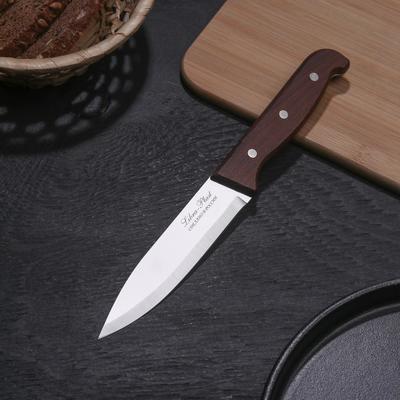 Нож кухонный «Классик», лезвие 13 см, деревянная рукоять - Фото 1
