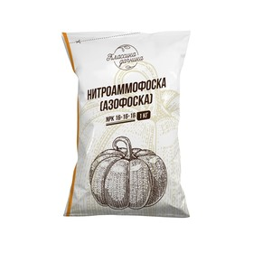 Удобрение минеральное Азофоска (нитроаммофоска),  1 кг