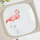 Тарелка «Фламинго», 20,5×20,5 см