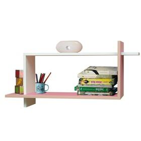 Полка навесная №7, 800 × 250 × 400 мм, цвет белый/ярко-розовый