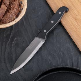 Нож кухонный «Классик» универсальный,лезвие 13 см, чёрная пластиковая ручка