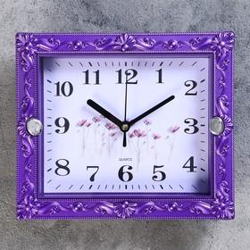 Часы настенные, серия: Классика, 'Брилл', 21х18 см, дискретный ход, Ош