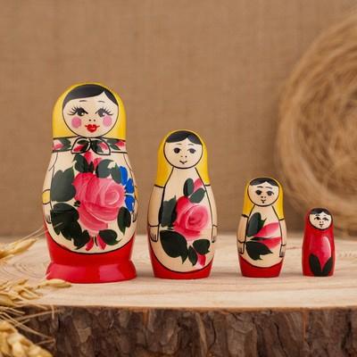 """Матрешка """"Семёновская"""", 4-х кукольная, высшая категория - Фото 1"""