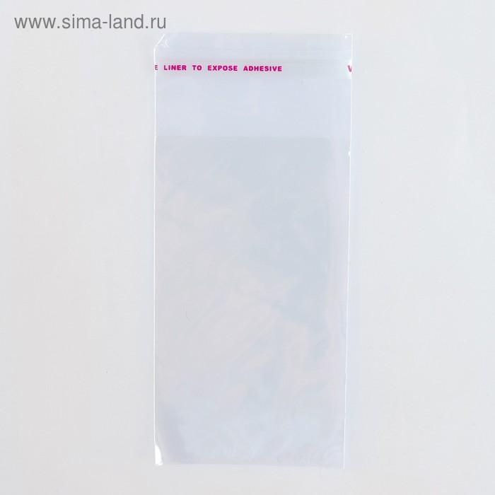 Пакет БОПП с клеевым клапаном 6 х 10/4 см, 25мкм