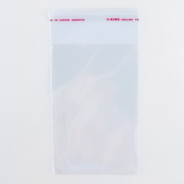 Пакет БОПП с клеевым клапаном 8 х 12/4 см, 25мкм