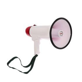 Мегафон ручной Rad-25, 25 Вт, дальность до 400 м, запись 10 сек, сирена, бело-красный Ош