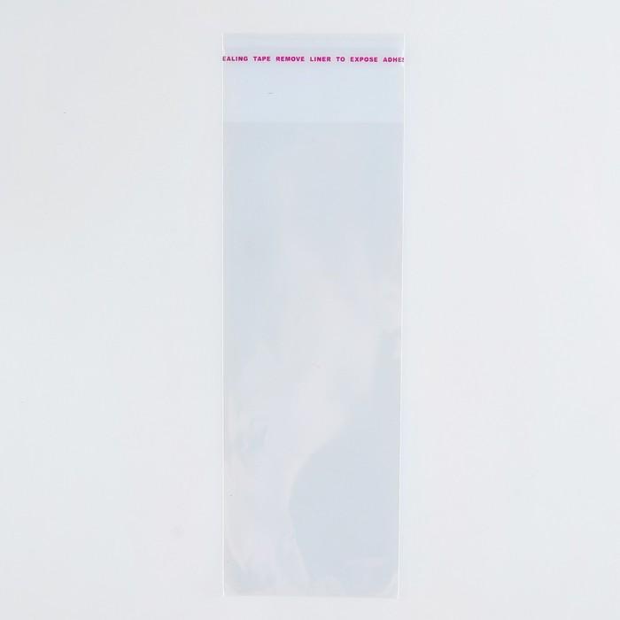 Пакет БОПП с клеевым клапаном 6 х 16/4 см, 25мкм