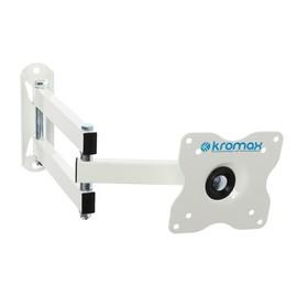 """Кронштейн Kromax DIX-15W, для ТВ, наклонно-поворотный, 15-28"""", 48-377 мм от стены, белый"""