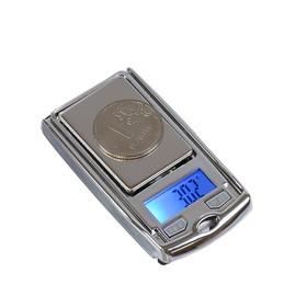 Весы LuazON LuazON LVU-03 , портативные, электронные, до 200 гр, черный/хром
