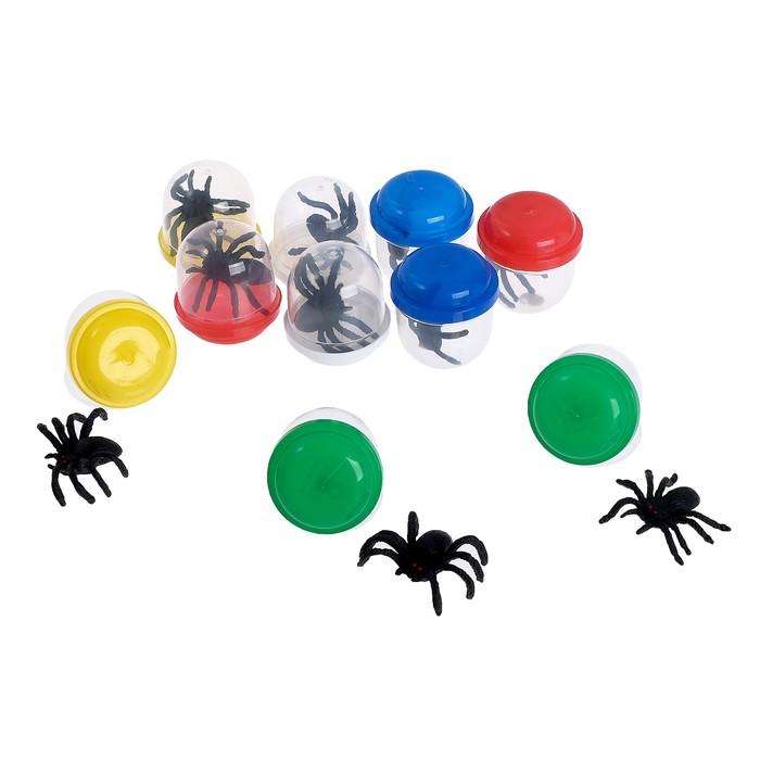 Набор игрушек в яйце «Атака пауков», набор из 10 яиц, 28 мм