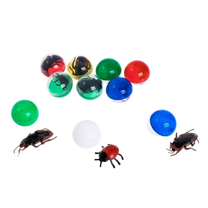 Набор игрушек в яйце «Насекомые», набор из 10 яиц, 34 мм