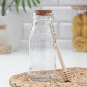 Ёмкость для мёда «Парфе», 250 мл, 7×11,5 см, с ложкой Ош